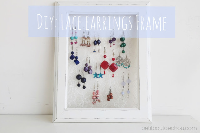 DIY Lace earrings frame