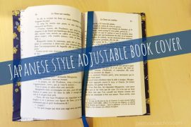 DIY: Japanese Style Adjustable Book Cover