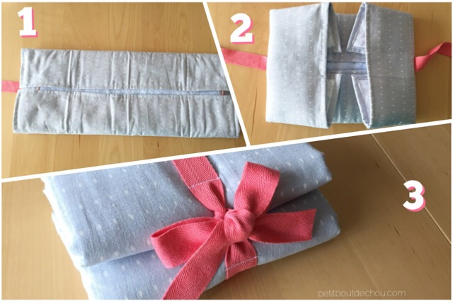 folding the changing mat in 3 steps
