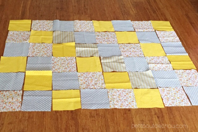 super soft baby blanket fabric squares cut