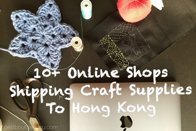 10 online shops for craft supplies shipping to Hong Kong