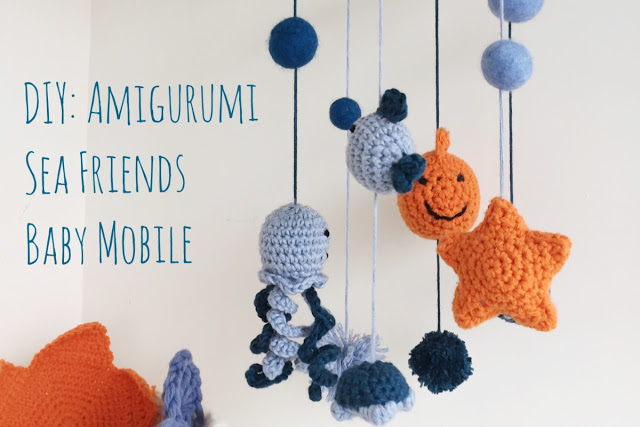 DIY amigurumi sea friends baby mobile