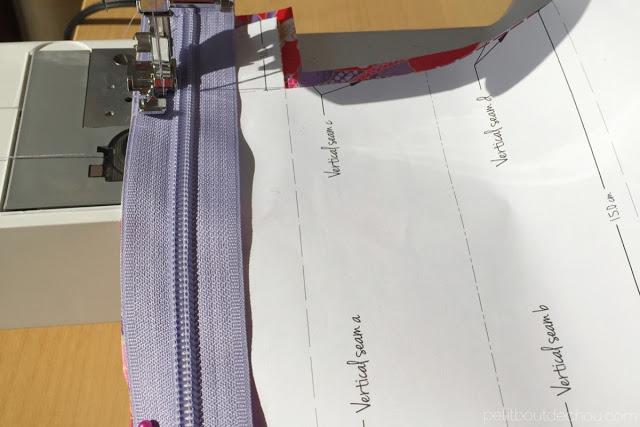 sew along the zipper