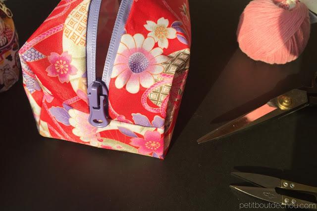 box zipper pouch japanese print
