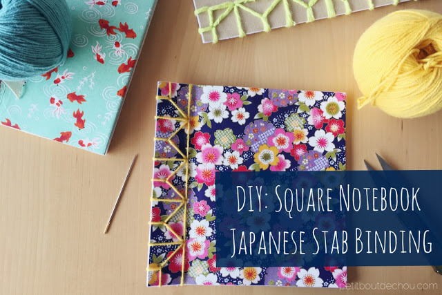 DIY: Square Notebook Japanese Stab Binding
