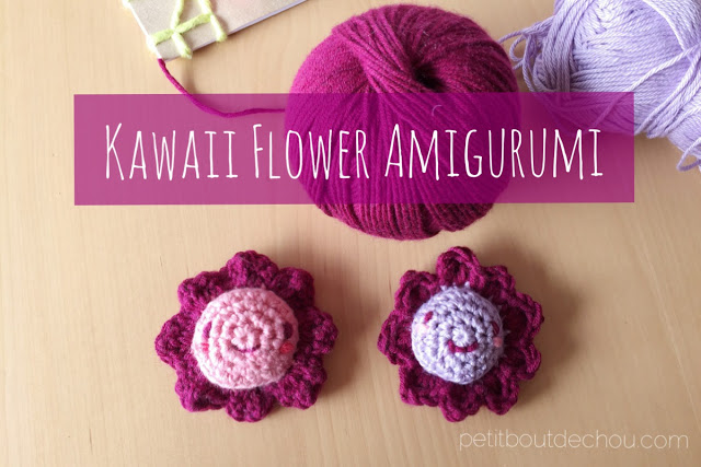 kawaii flower amigurumi