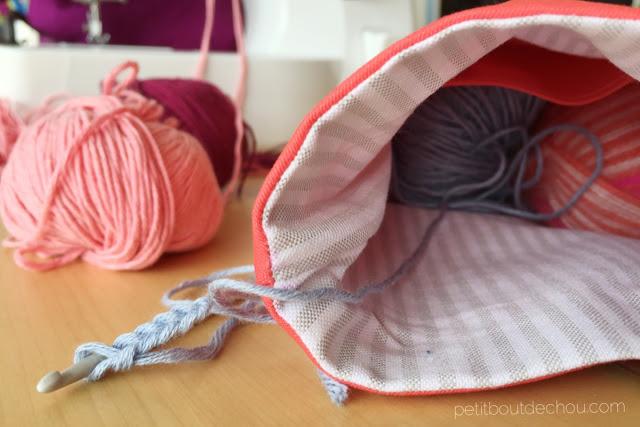 yarn holder bag crochet holder