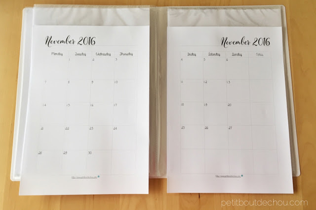 Free minimalist printable monthly planner