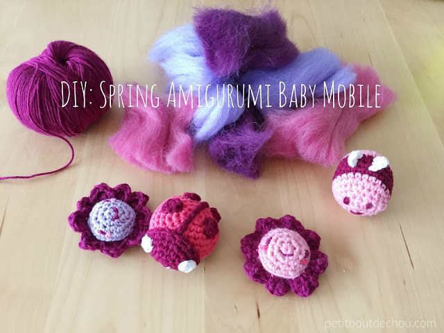 DIY spring amigurumi baby mobile