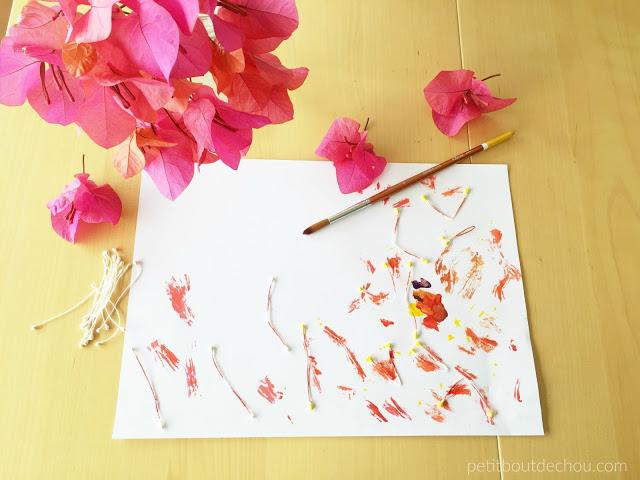 plum blossom stamen painting
