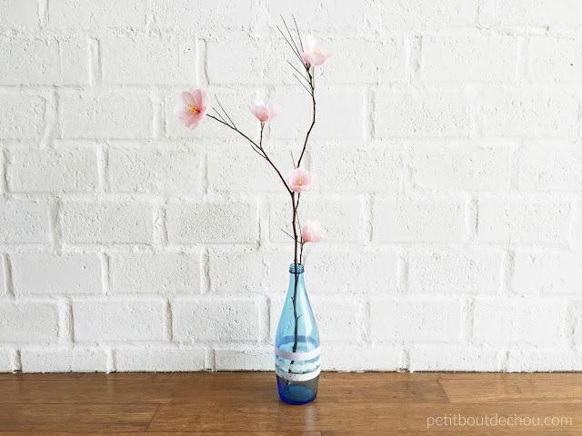 plum blossom branch in vase