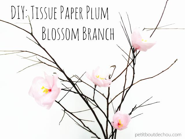 DIY Tissue Paper Plum Blossom Branch