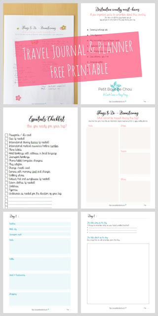 Travel Journal and Planner Printable - Petit Bout de Chou