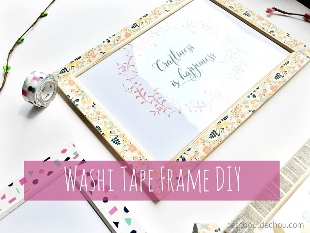 washi tape frame diy