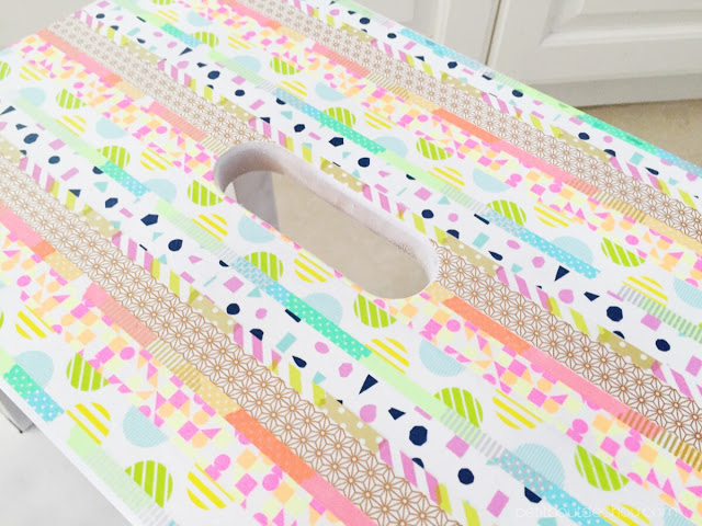 Ikea Hack Colourful Step Stool With Washi Tape Petit