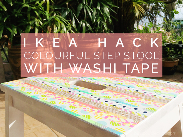 ikea step stool hack with washi tape