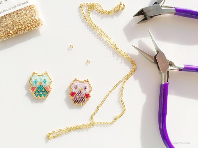 baby owl pendant