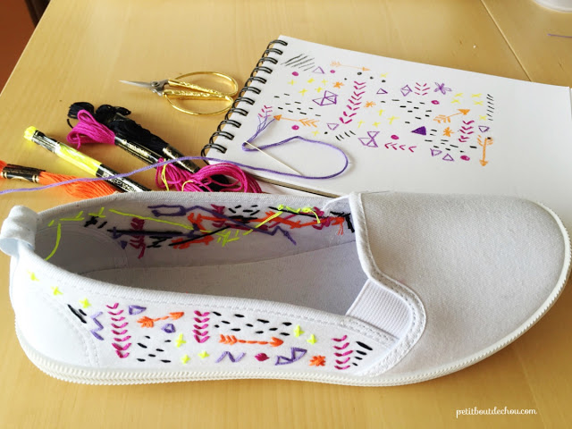 embroidery time custom summer shoes