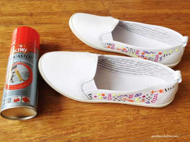 waterproofing and protective spray for your summer shoes