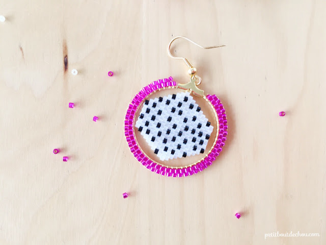 dragon fruit creole earring finished