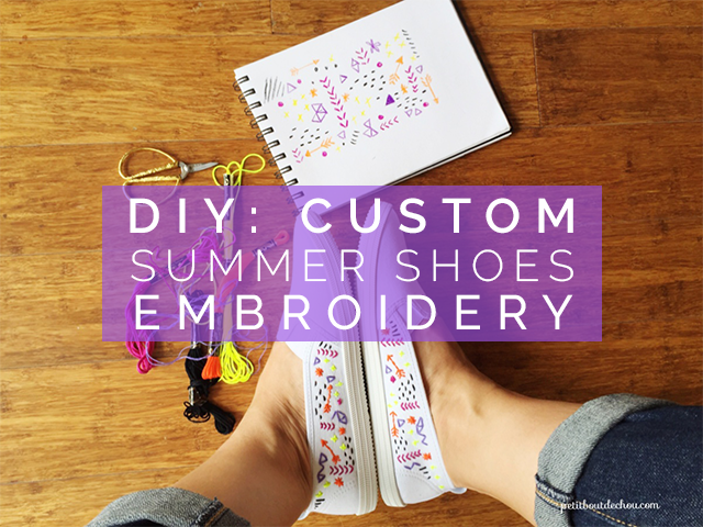 DIY custom summer shoes embroidery