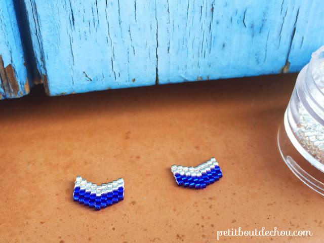 Chevron beaded in brick stitch with miyuki beads