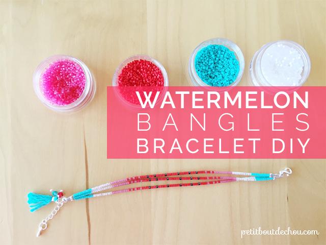Watermelon bangles bracelet DIY