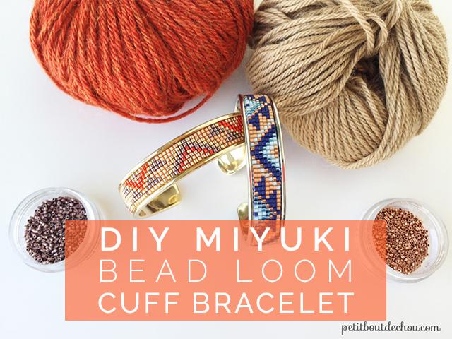 DIY miyuki bead loom cuff bracelet