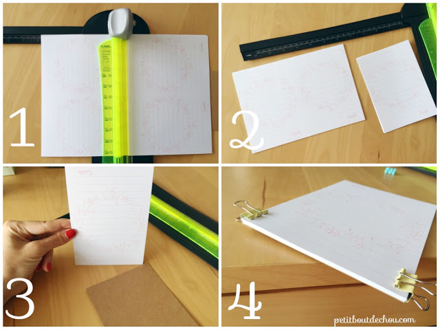 cut notepad pages
