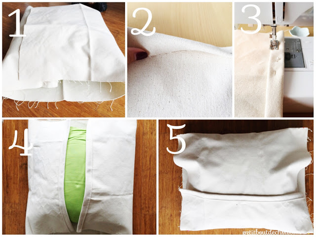 Cover cushion fabric cutting and sewing