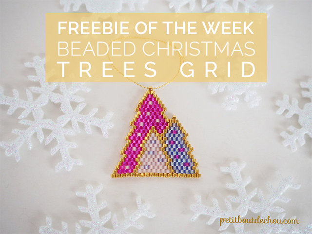 beaded christmas trees grid