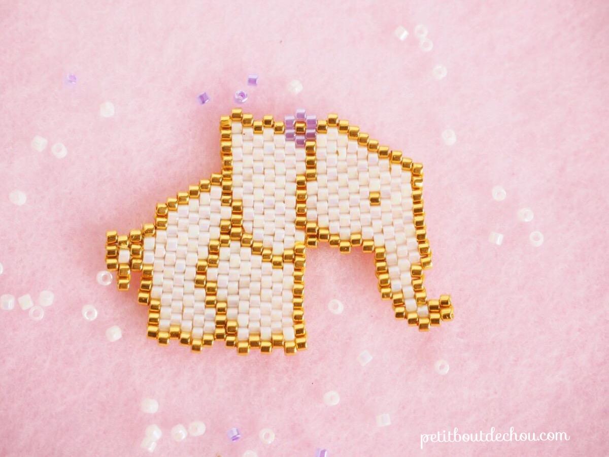 beaded elephant grid miyuki