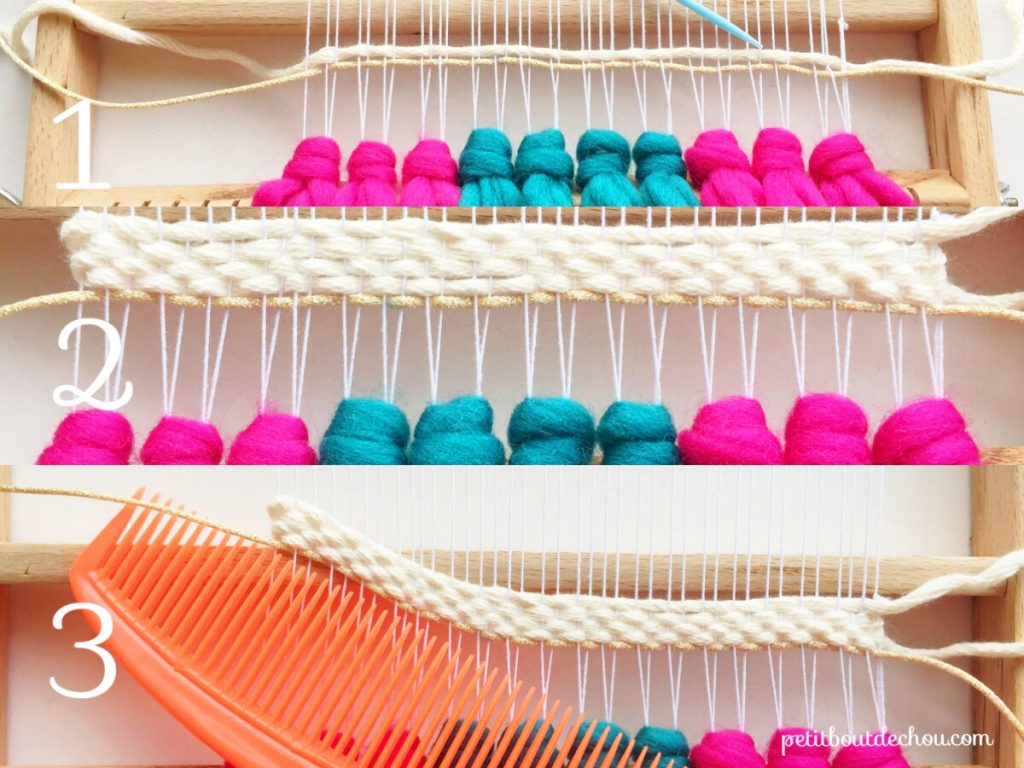 Weaving a wave step 1