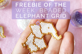 Title freebie of the week beaded elephant grid