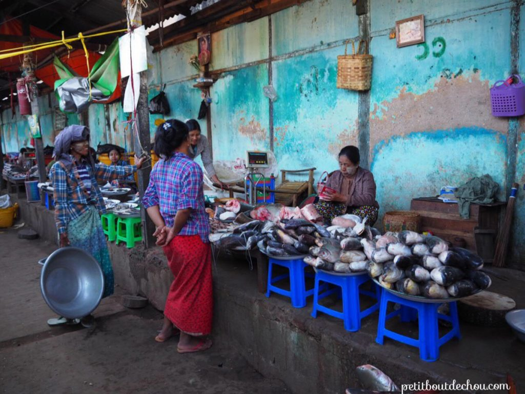 Nyaung U market fishes