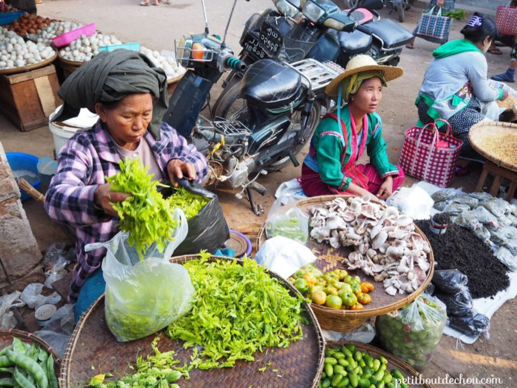 Bagan market vegetables