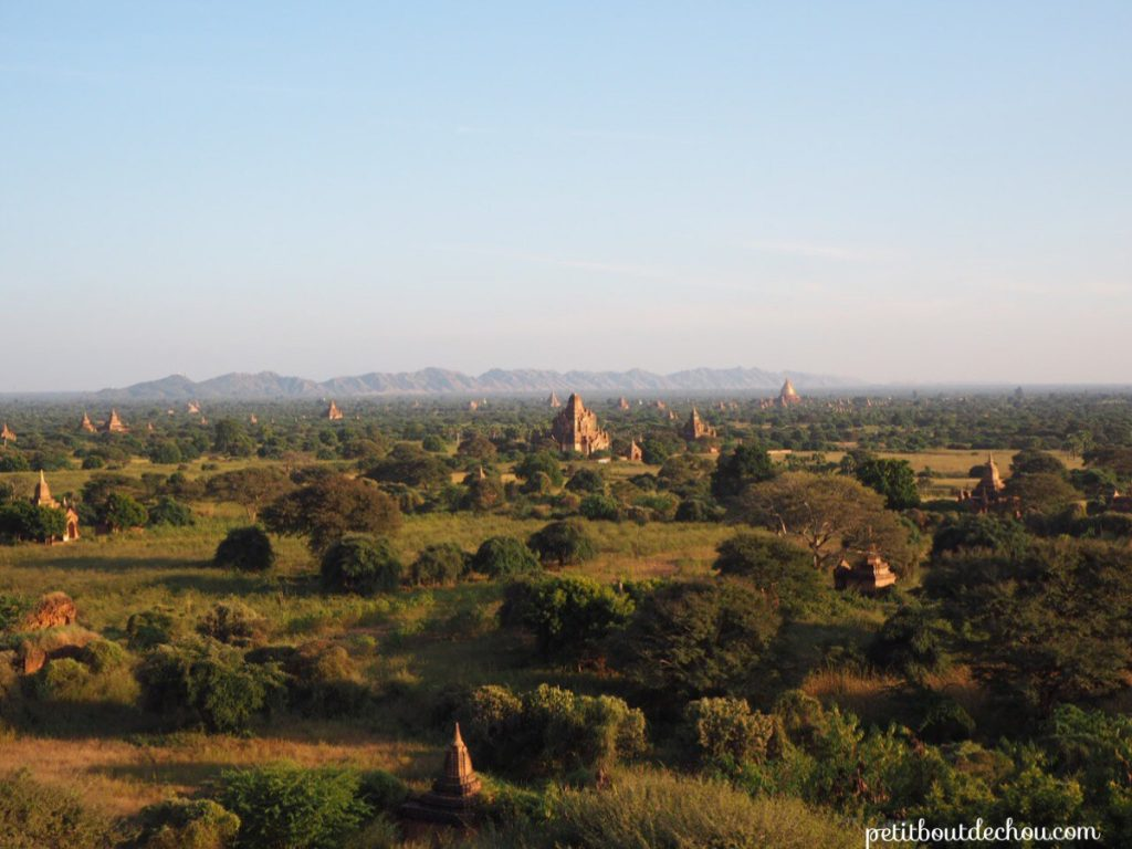Stunning view of Bagan plain