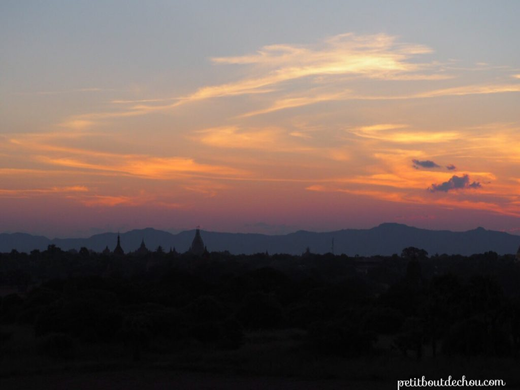 Sunset from Gu Ni temple
