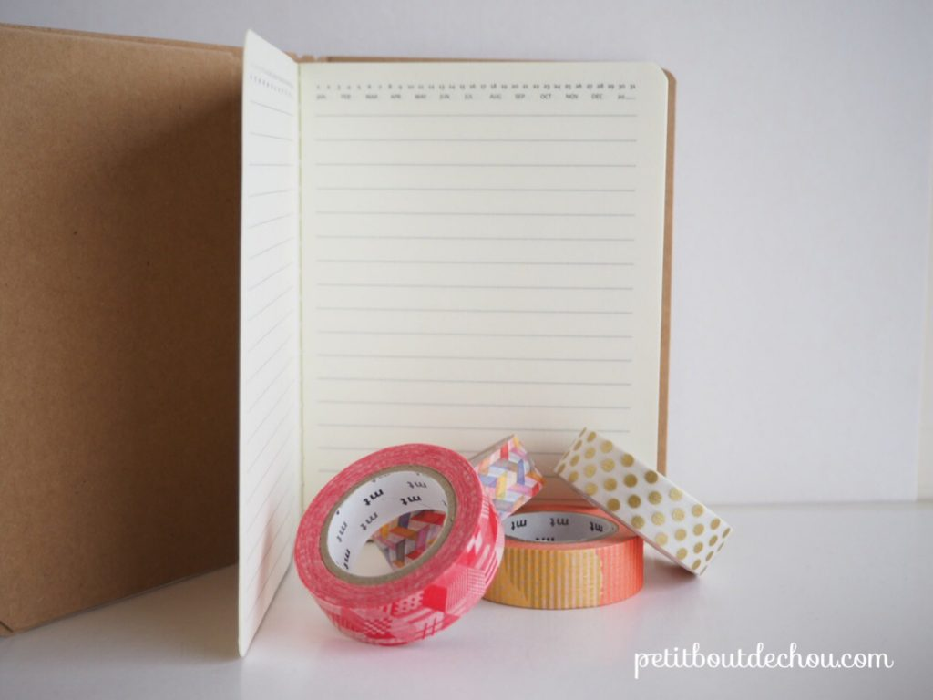 Supplies needed notebook & masking tape