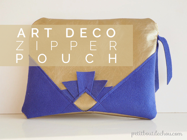 Sew an Art Deco Zipper Pouch