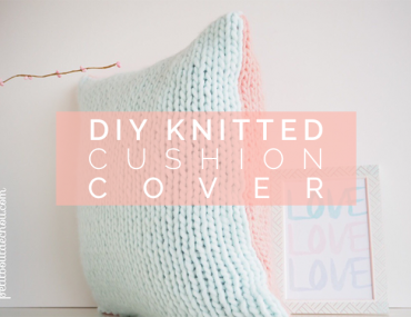 DIY Knitted cushion cover