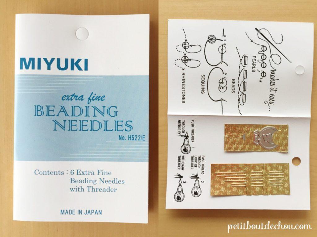 Beading needles - miyuki set