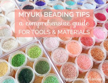 Miyuki beading tools and material guide