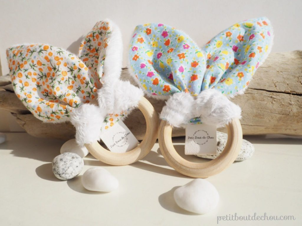Bunny ears baby teething rattle DIY