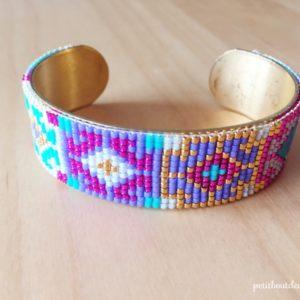 Laotian pattern cuff bracelet