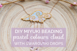 Title cloud miyuki necklace