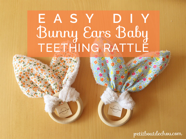 Title easter DIY bunny ears teething rattle