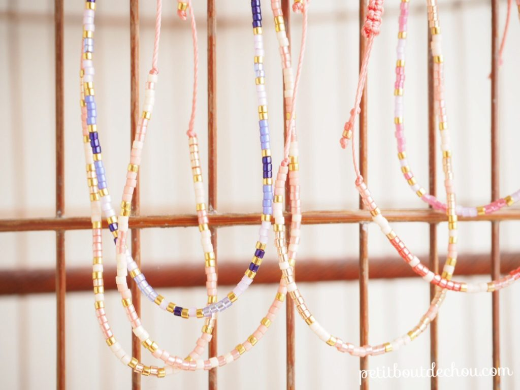 Miyuki and macrame friendship bracelets cage