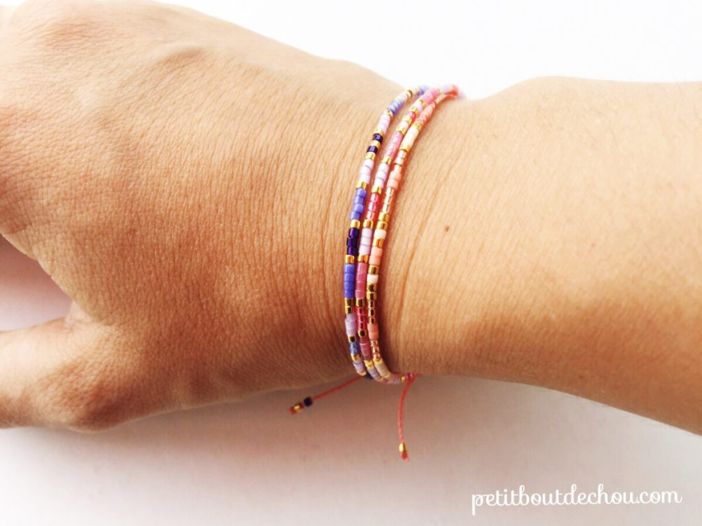 Miyuki Friendship bracelets on wrist