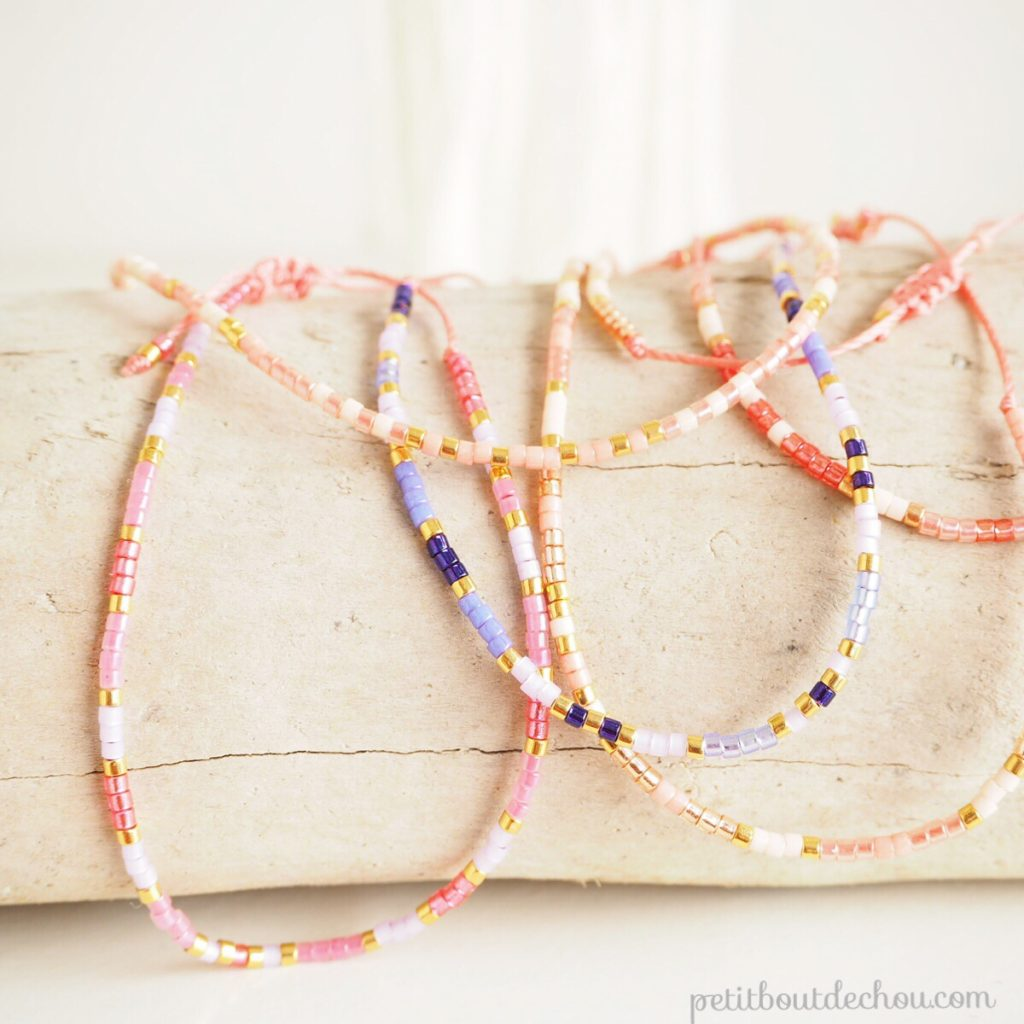 Miyuki and macrame friendship bracelets